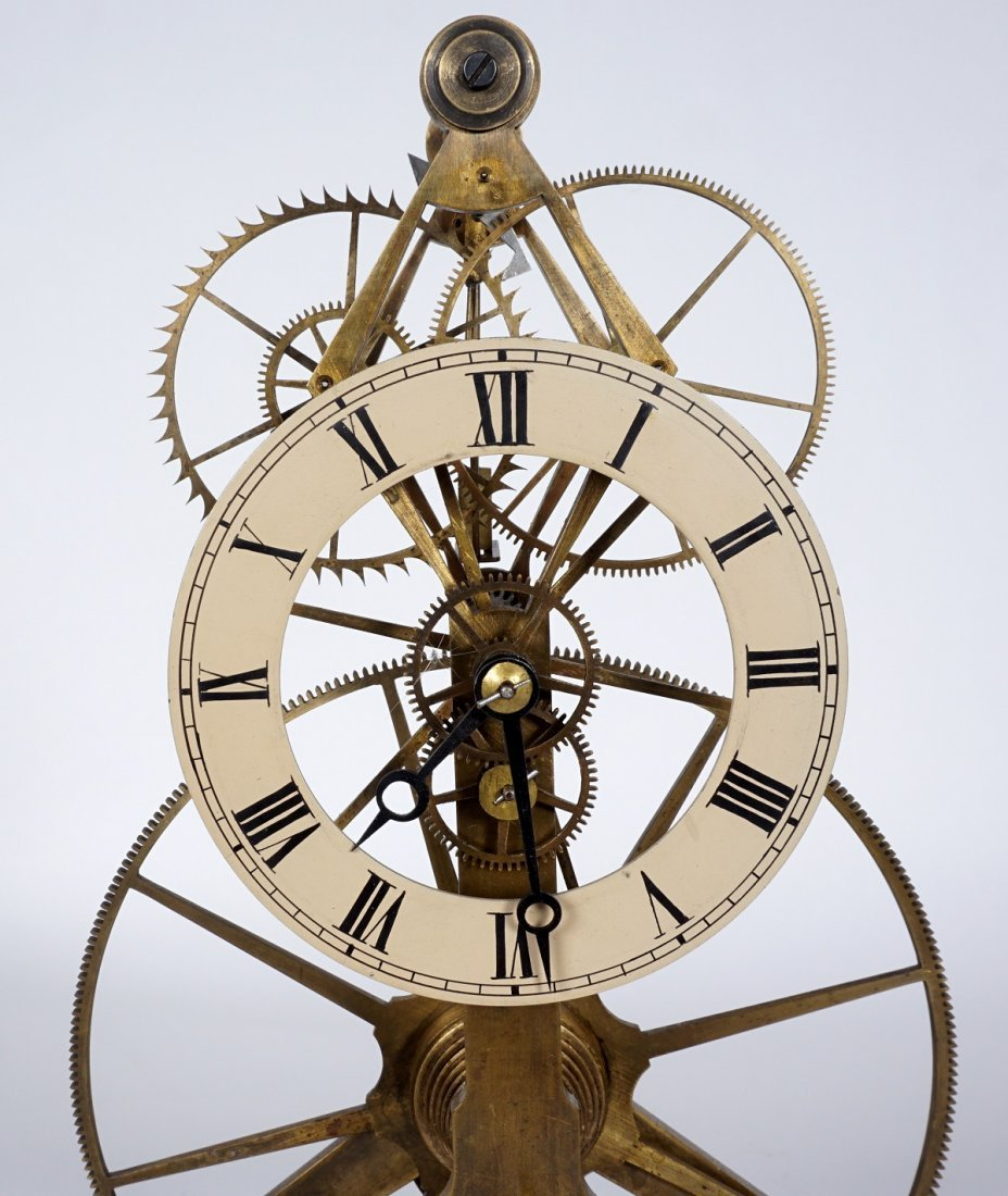Brass Skeleton Clock - 6