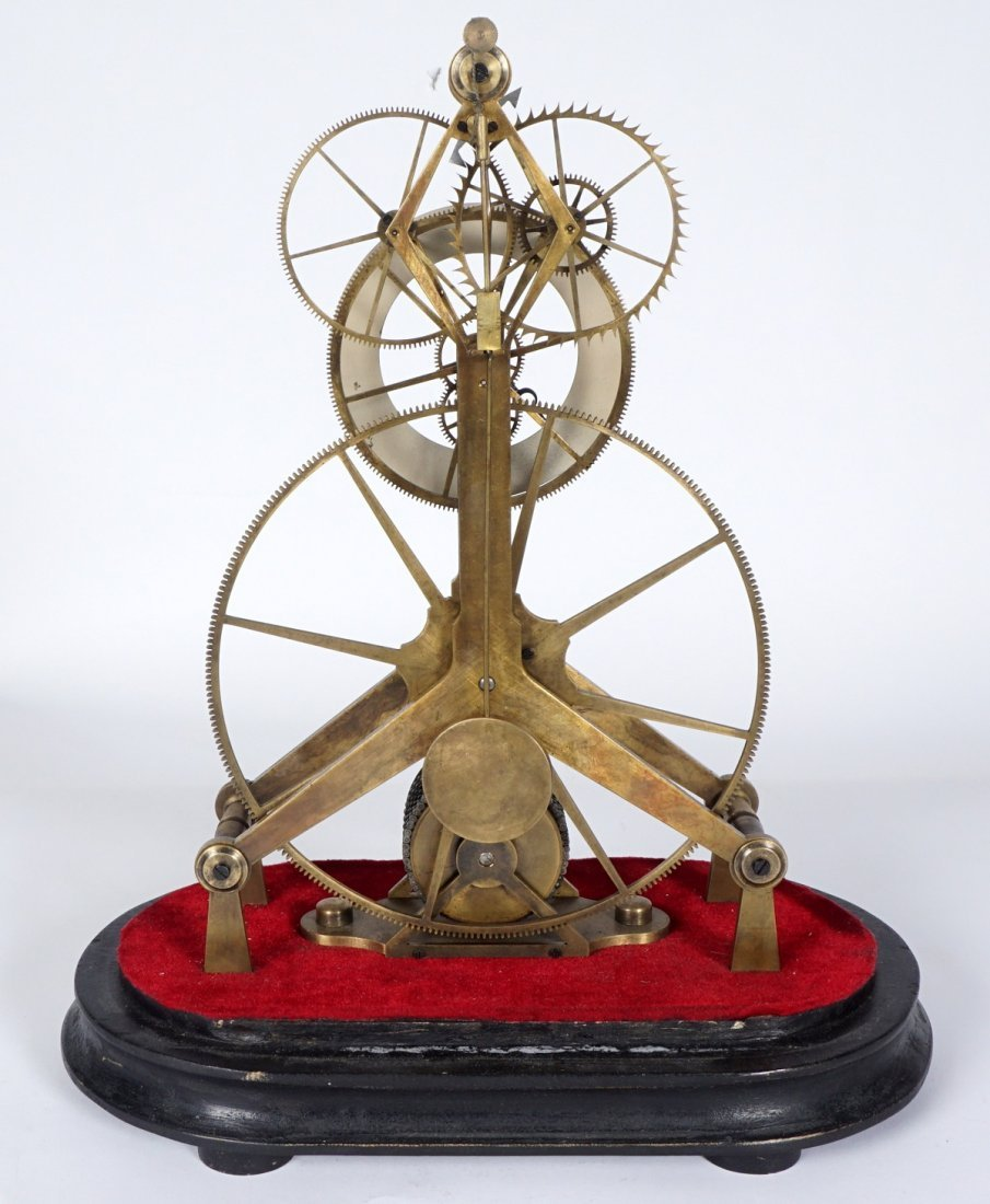 Brass Skeleton Clock - 7