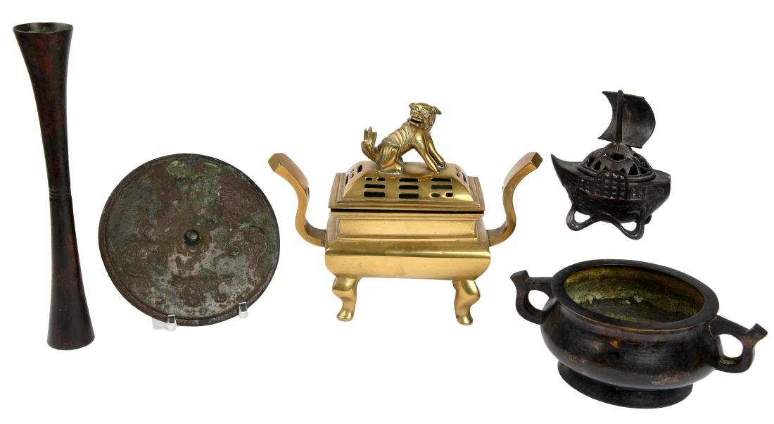 Five Chinese Metal Objects