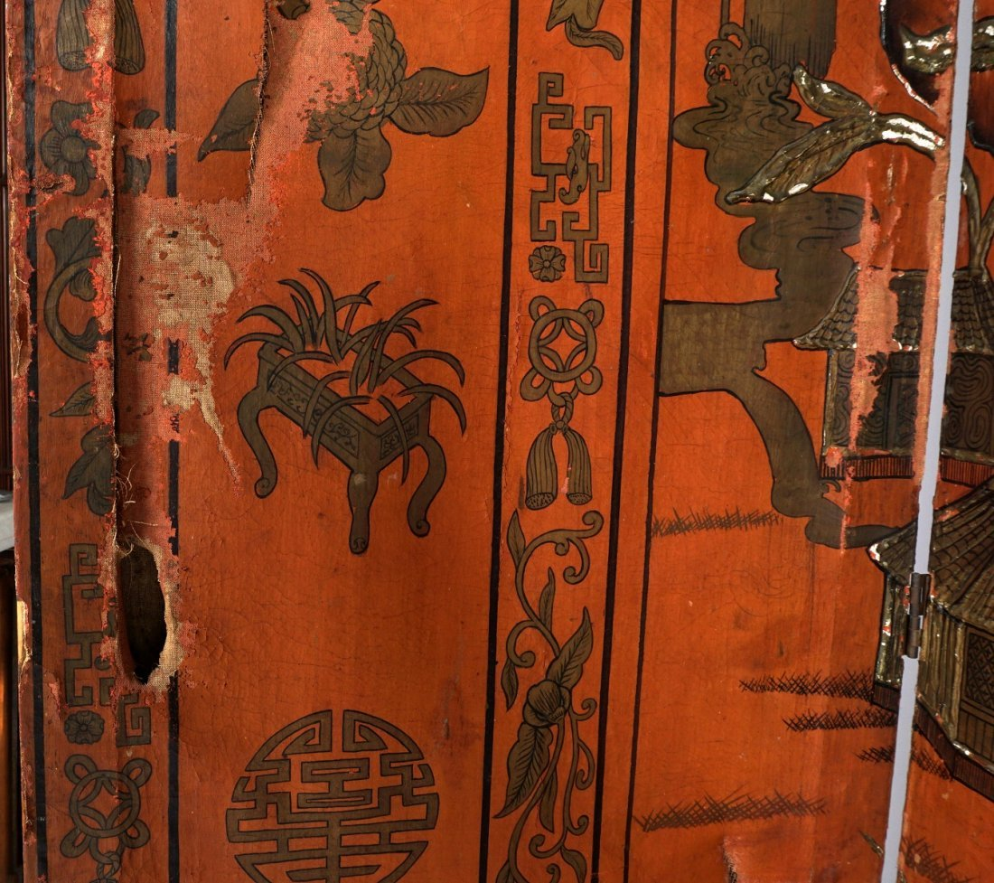 Chinese Five Panel Room Divider - 10