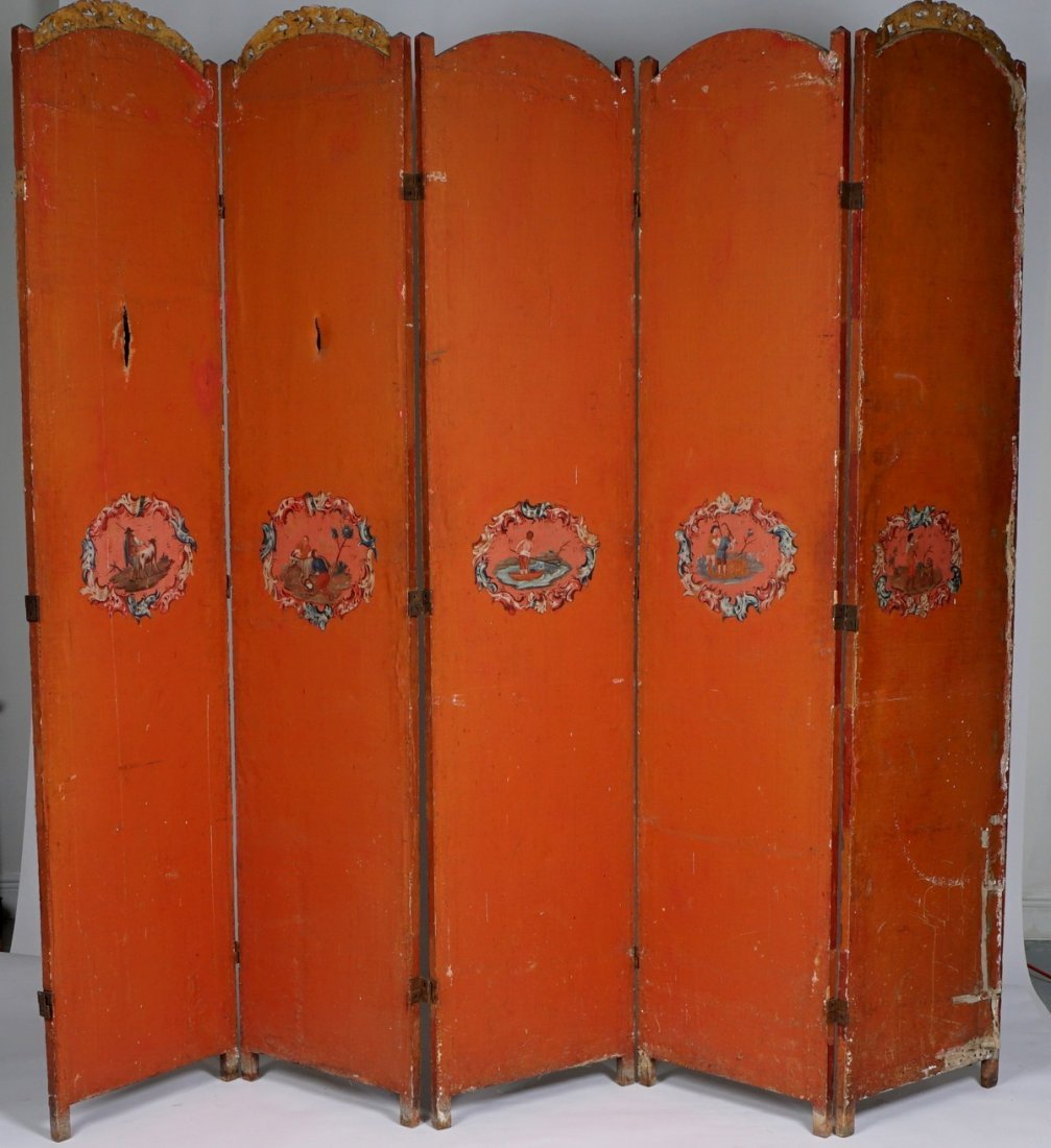 Chinese Five Panel Room Divider - 8