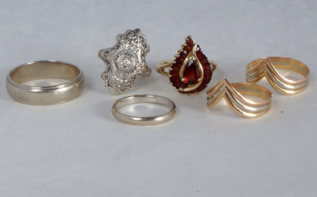 Nine Pc Lot 14k Gold Jewelry Approx 21.8 Grams - 2