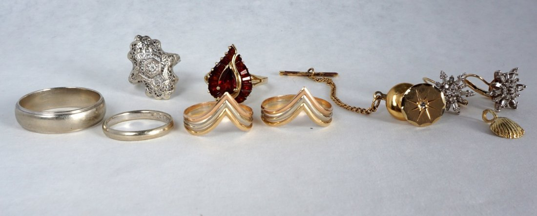 Nine Pc Lot 14k Gold Jewelry Approx 21.8 Grams - 5