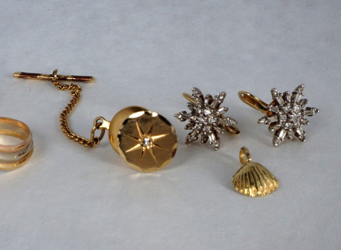 Nine Pc Lot 14k Gold Jewelry Approx 21.8 Grams - 7