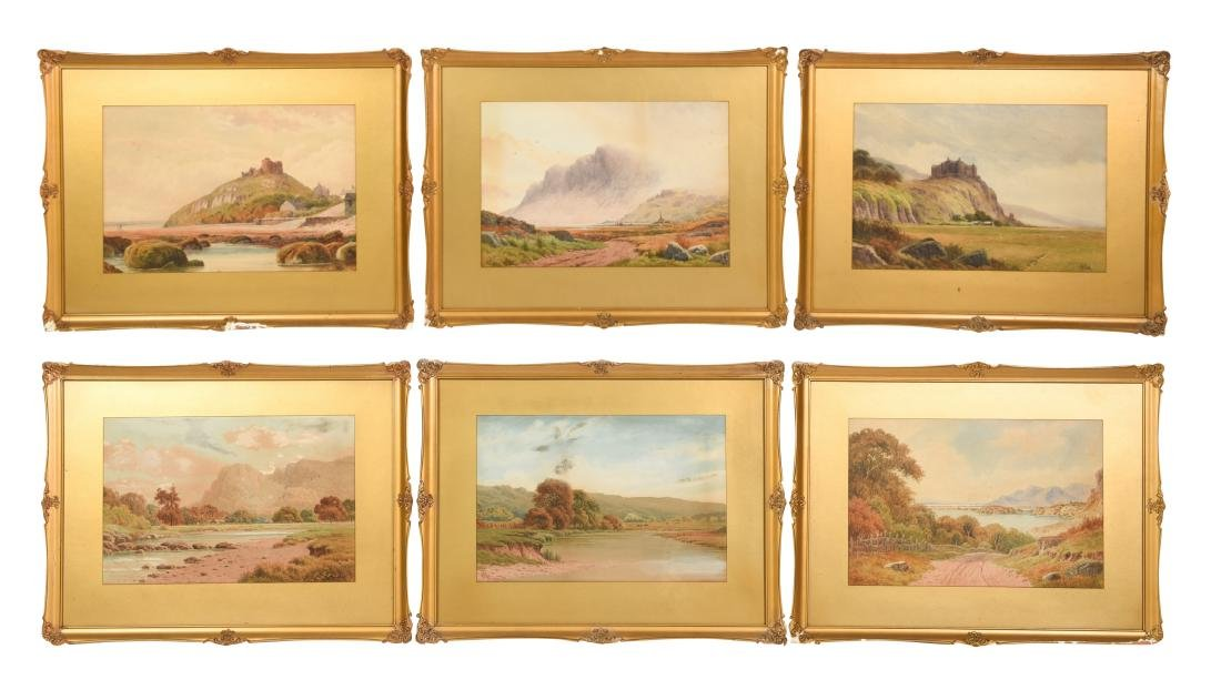 Set Six Watercolors by Henry Hilton