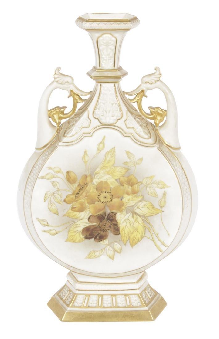 Royal Worcester Moon Shaped Vase