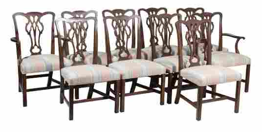 KITTINGER Set 10 George III Style Dining Chairs
