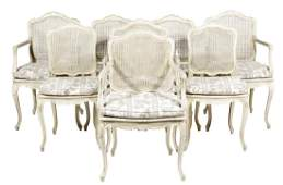 Set Eight Louis XV Style Dining Chairs