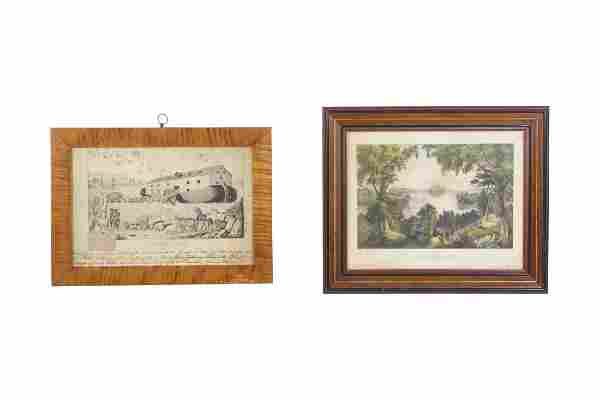 Noah's Ark, and Currier & Ives, Saratoga Lake