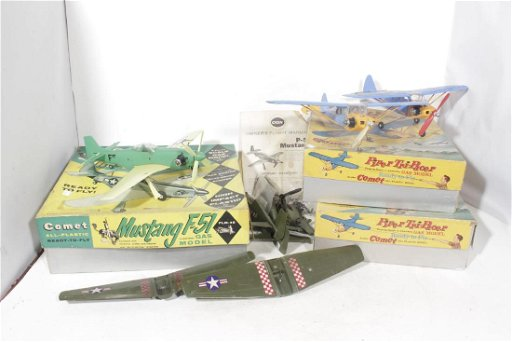 Six Gas Powered Model Airplanes