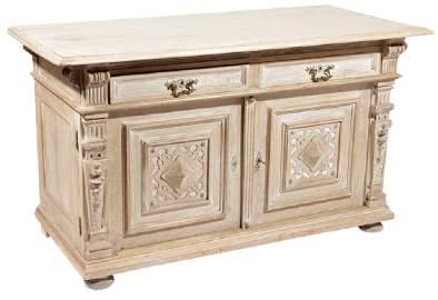 Antique Renaissance Style Oak  Cabinet