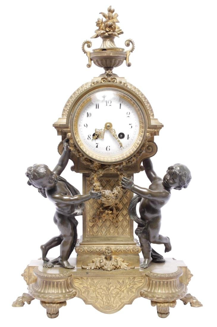 Louis XVI Style Bronze Clock