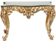Italian Rococo Style Painted  Console