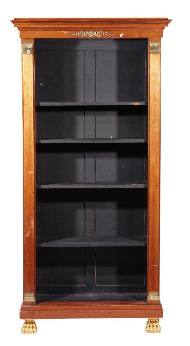 Empire Style Mahogany Bookcase