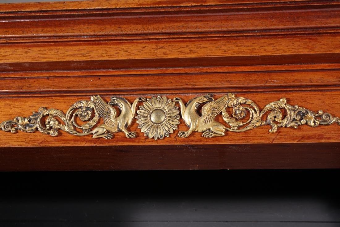 Empire Style Mahogany Bookcase - 7