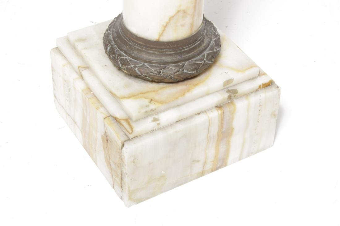 19th Neoclassical Onyx  and Bronze Pedestal - 2