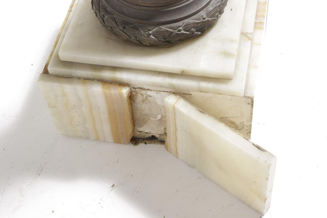 19th Neoclassical Onyx  and Bronze Pedestal - 6