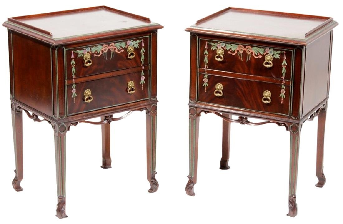 Pair WIDDICOMB Two (2) Drawer Bedside Cabinets
