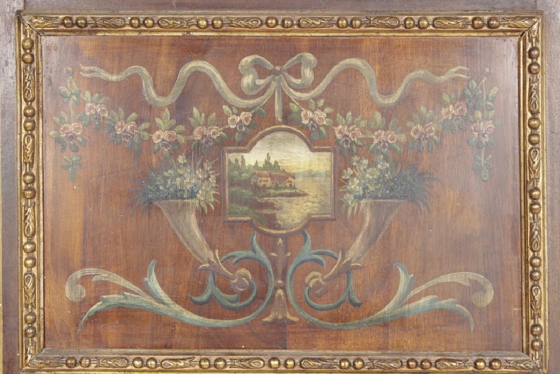 Antique French Trumeau Mirror - 6