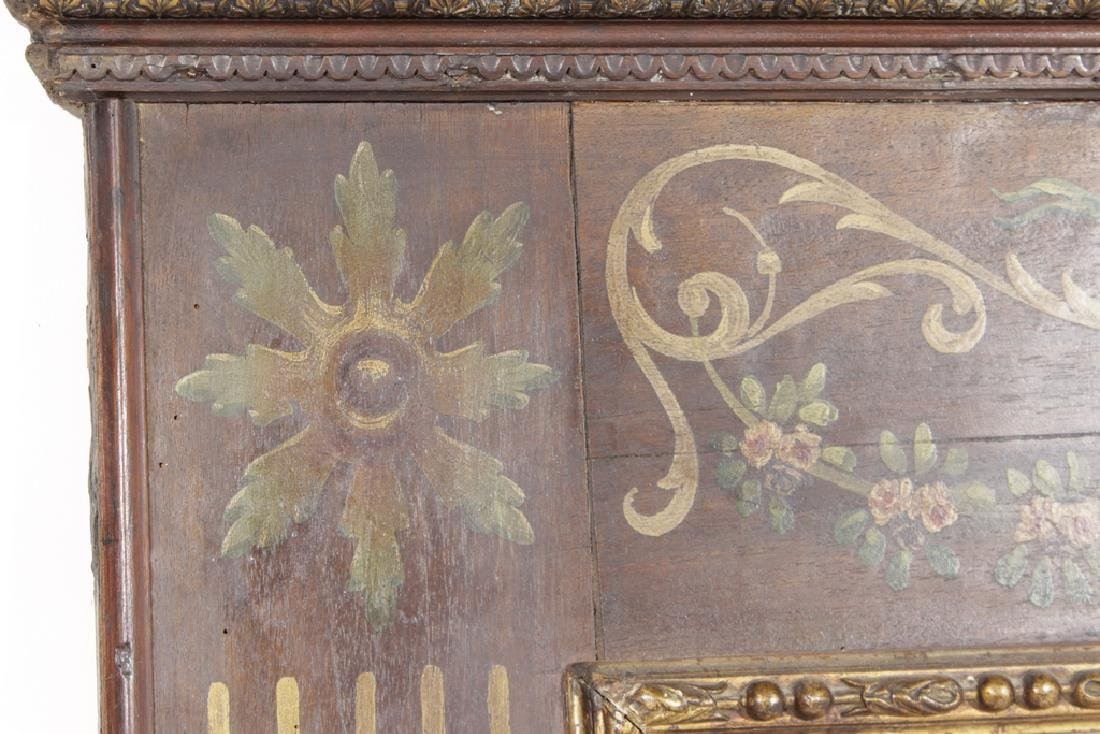 Antique French Trumeau Mirror - 7