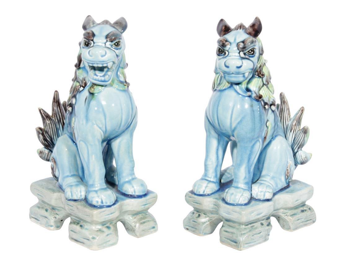 Pair of SEDAK Turquoise  Foo Lions