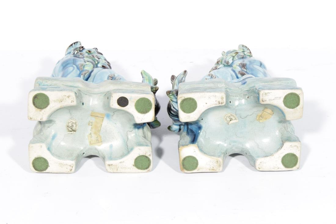 Pair of SEDAK Turquoise  Foo Lions - 2
