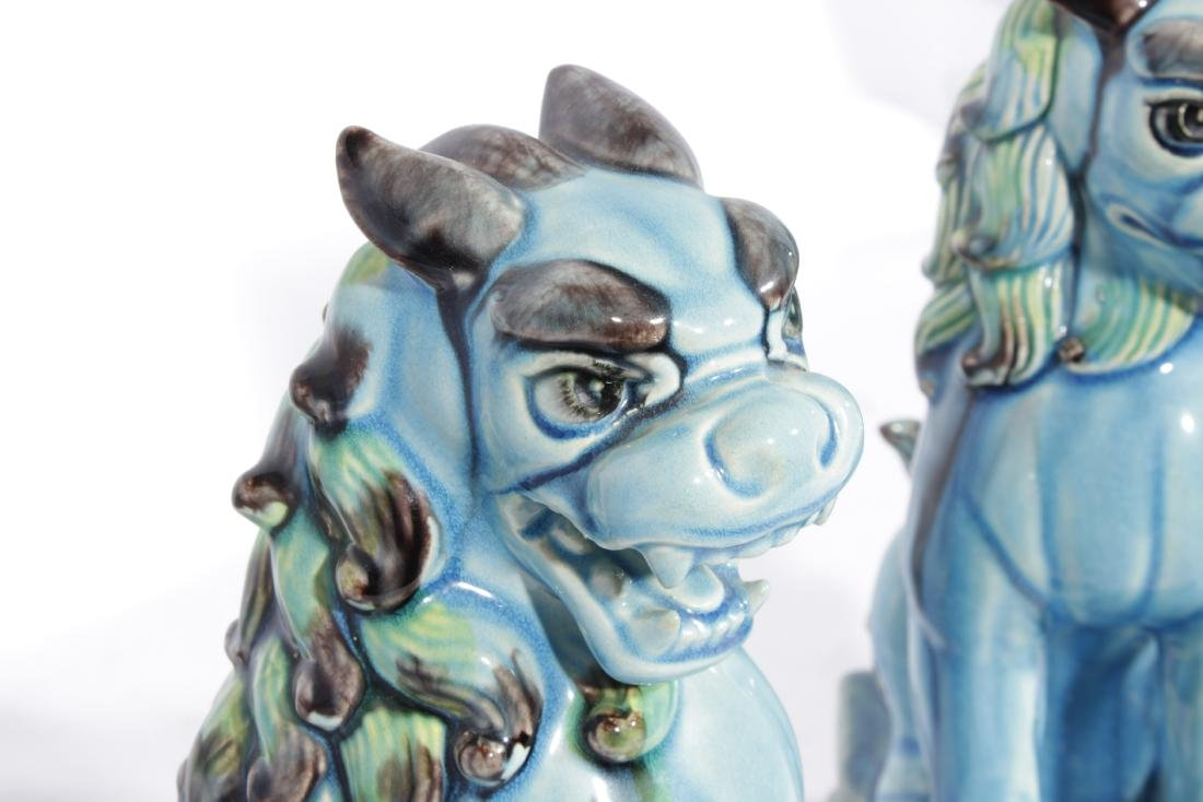 Pair of SEDAK Turquoise  Foo Lions - 6