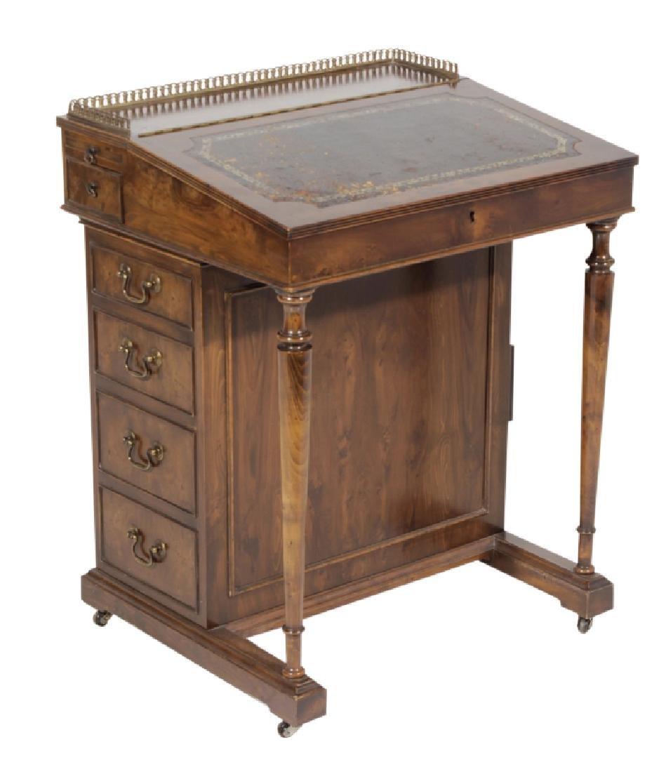 Victorian-Style Mahogany Davenport