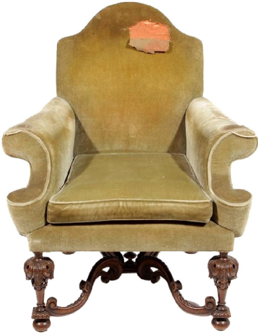 William & Mary Style Armchair
