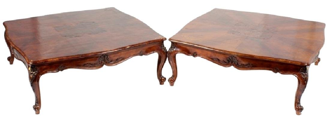 Pair Louis XV Style Coffee Tables