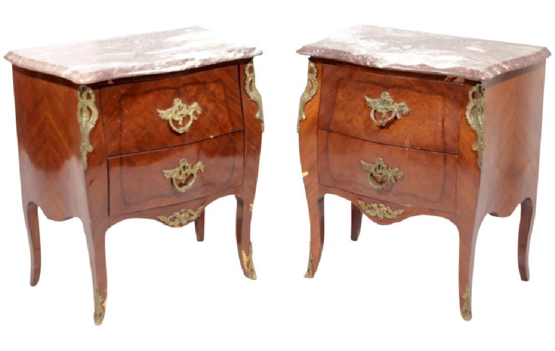 Pair Louis XV Style Diminutive Commodes