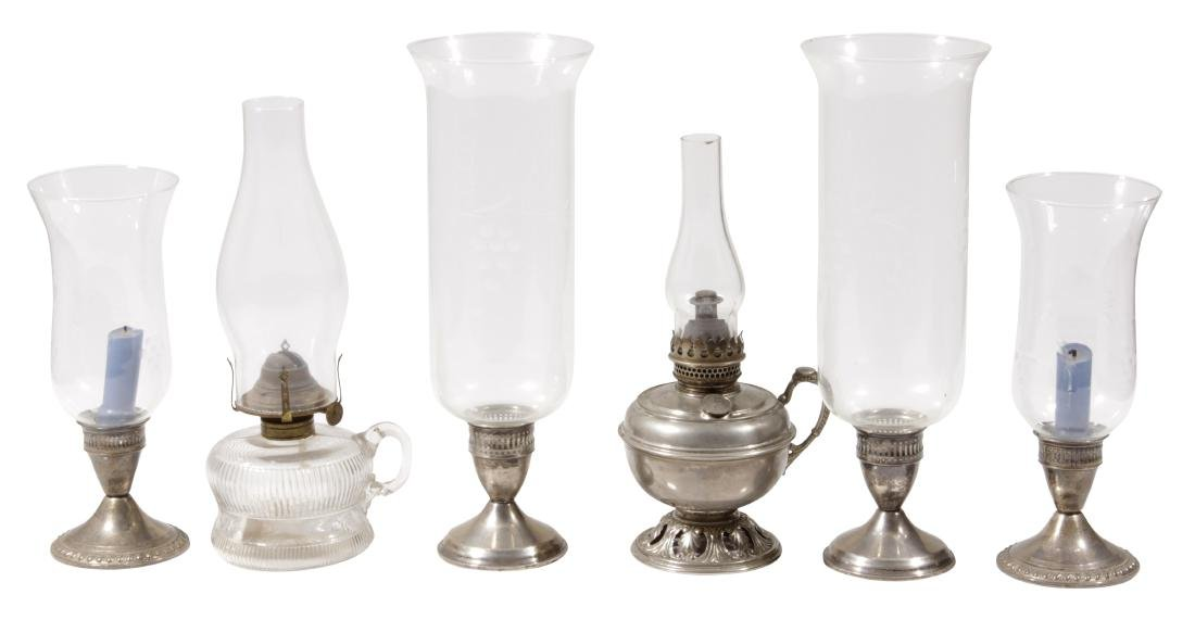Group Four (4) Sterling Silver Candlesticks