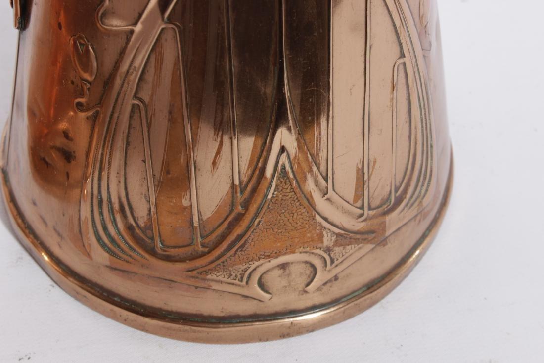 English Arts & Crafts Graduated Copper Jug Set - 5