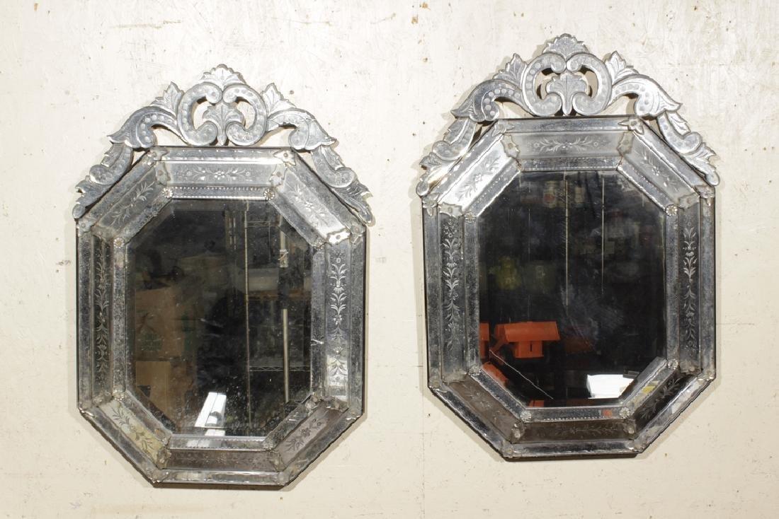 Pair of Venetian Style Mirrors