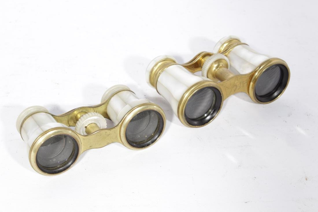 Lot of Two (2) Pairs 19th c. French Opera Glasses