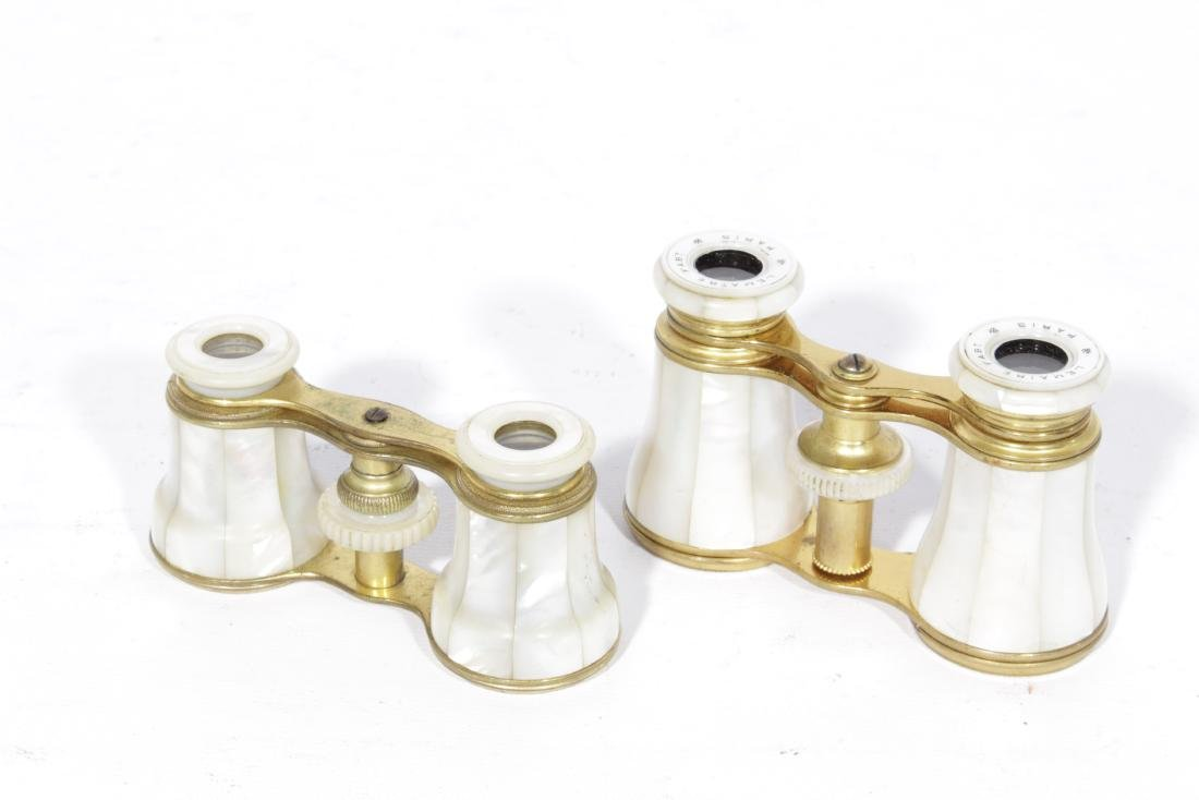 Lot of Two (2) Pairs 19th c. French Opera Glasses - 2
