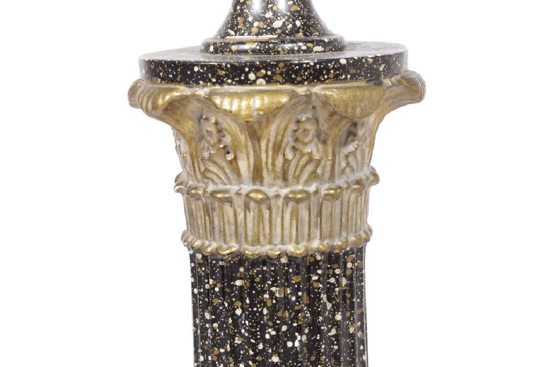 Faux Porphyry Column Lamp - 2