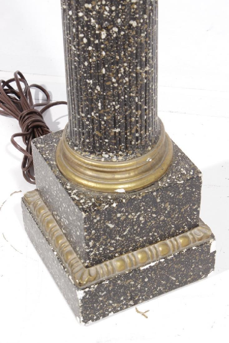 Faux Porphyry Column Lamp - 4