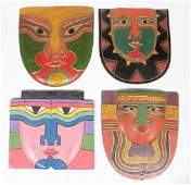 Set of Four (4) Tribal Masks