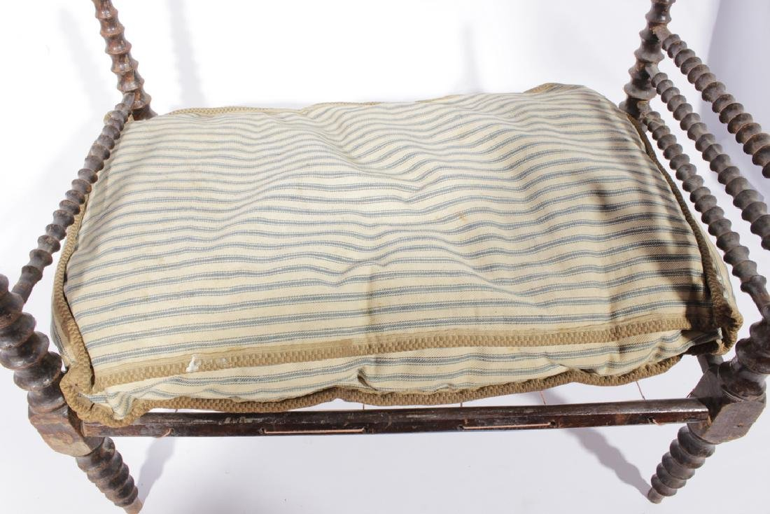 19th C Doll Spindle Rope Bed - 3