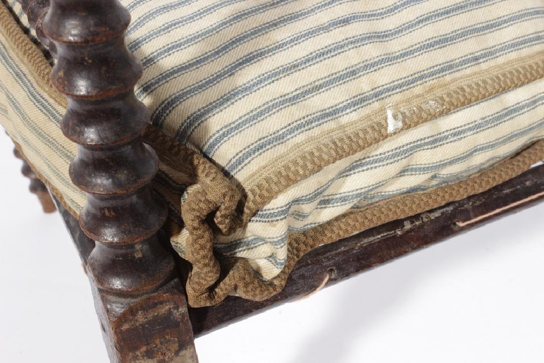 19th C Doll Spindle Rope Bed - 4