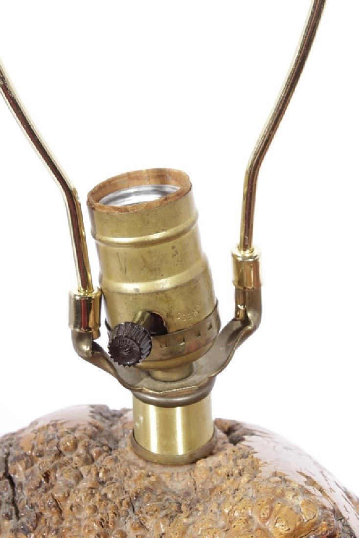 Naturalistic Burl Wood Lamp - 4