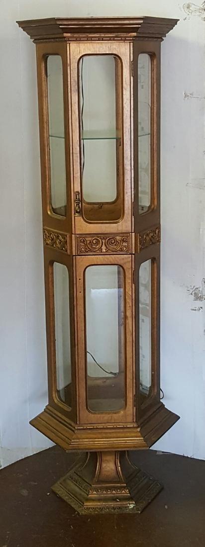 Octagonal Display Cabinet