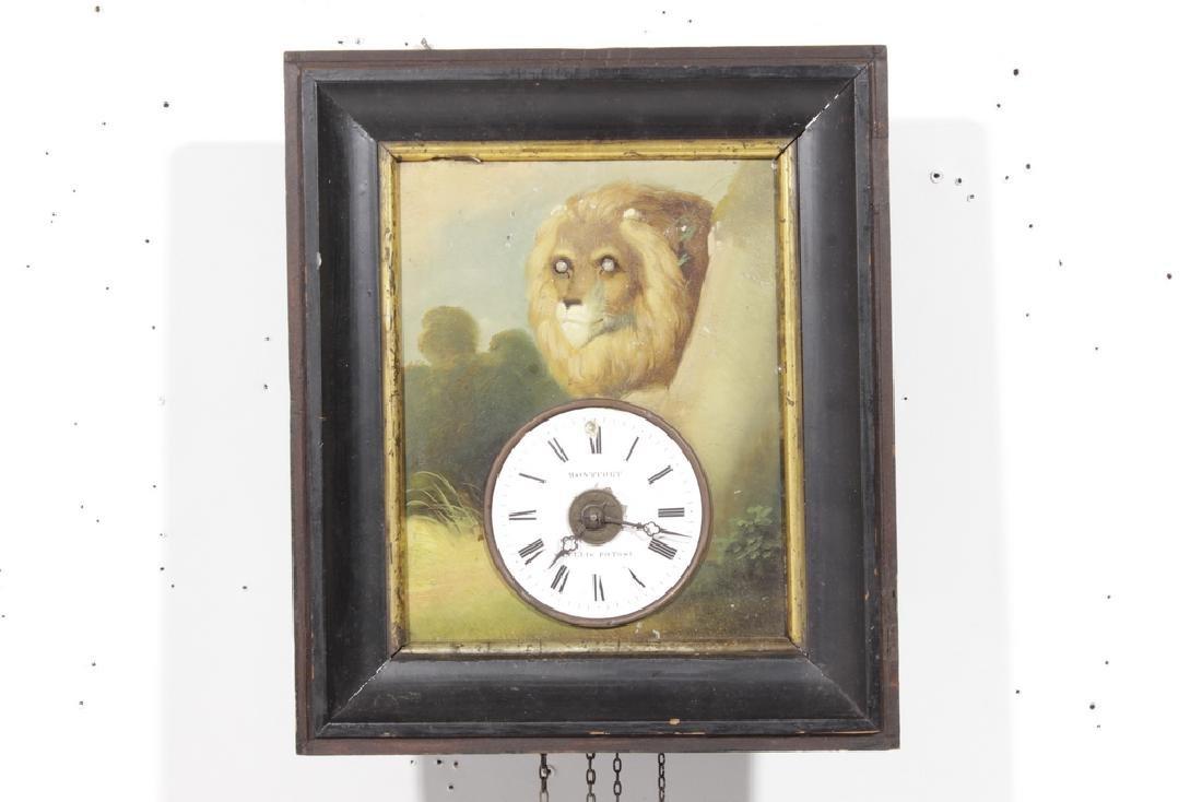 """19th c """"Rahmenuhr"""" Clock"""