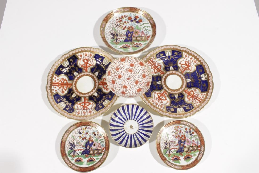 Misc English Porcelain Imari DIshes