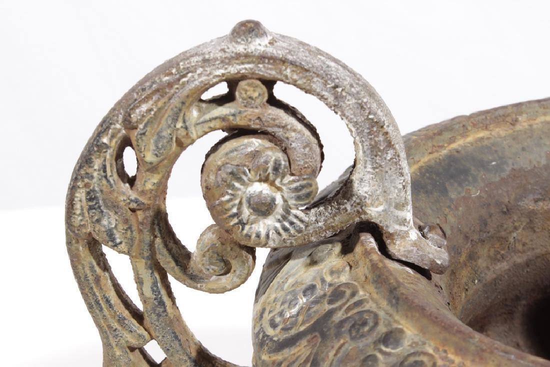 Vintage Cast Iron Urn - 2