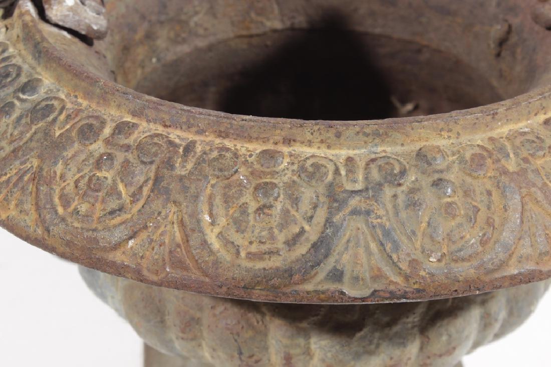 Vintage Cast Iron Urn - 3