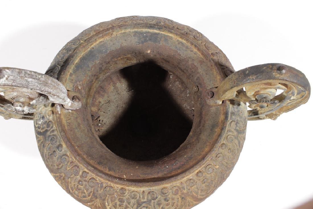 Vintage Cast Iron Urn - 5