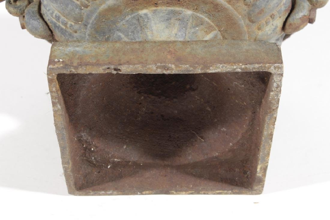 Vintage Cast Iron Urn - 6
