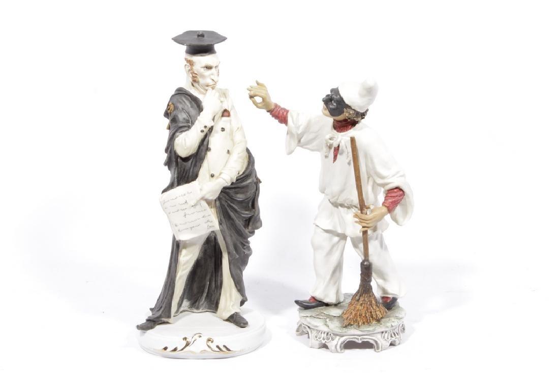 Lot of Two Capodimonte Figures